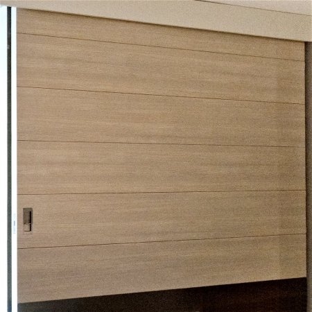 White oak large pivot door skin sing core