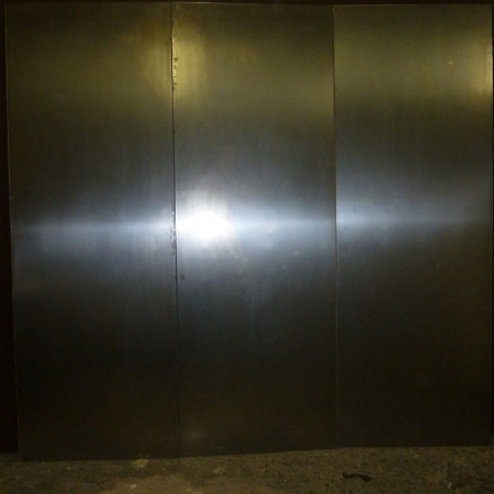 Stainless steel door panels large pivot door sing core